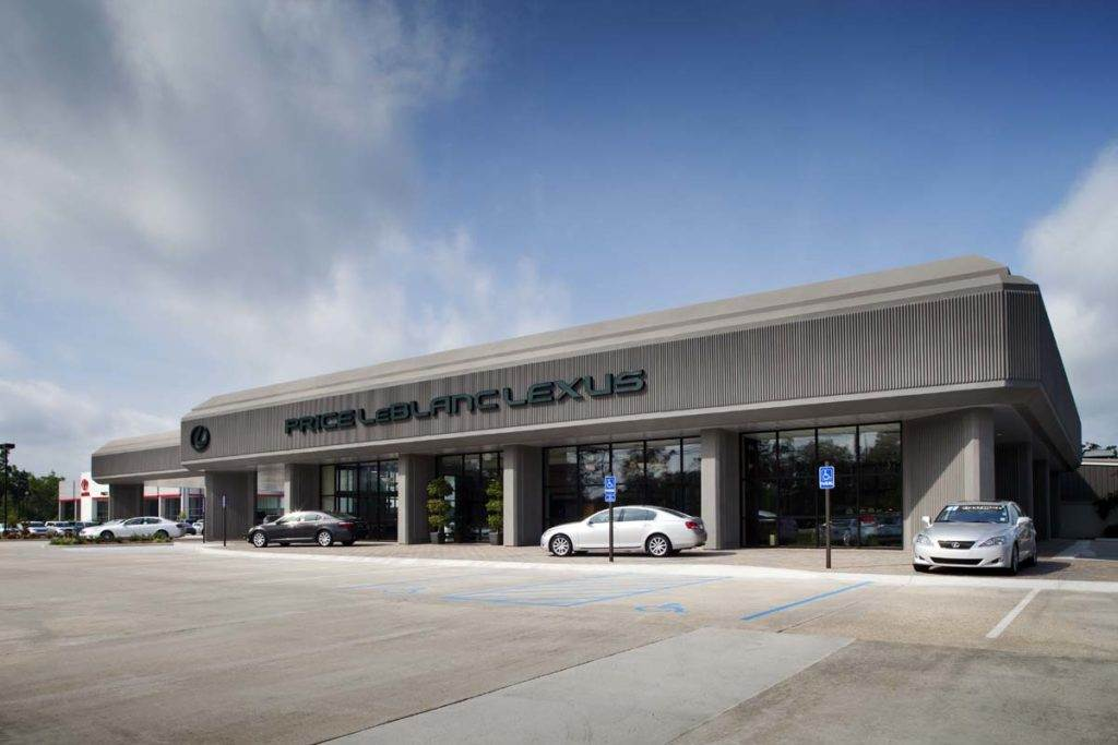 Renovation of Lexus auto dealership by Cangelosi Ward General Contractor.
